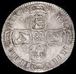 London Coins : A162 : Lot 3006 : Halfcrown 1696E Large Shields, Early Harp, ESC 526 Bright Fine, with some spots and light pitting, V...