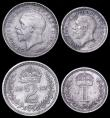 London Coins : A162 : Lot 3014 : Maundy Set 1932 ESC 2549, Bull 3993 GEF to UNC with matching grey tone, the Fourpence with a few sma...
