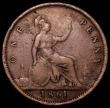 London Coins : A162 : Lot 3030 : Penny 1861 Freeman 20 dies 2+G VG/Near Fine, Rare
