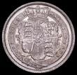 London Coins : A162 : Lot 3039 : Shilling 1817 R of REX blundered with a crude, shallow strike, type as ESC 1232, Bull 2195 A/UNC ple...