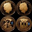 London Coins : A162 : Lot 419 : Countdown to the London Olympic Games, Five Pound Crowns (4) 2009 3-Year Countdown Gold Proof S.4920...