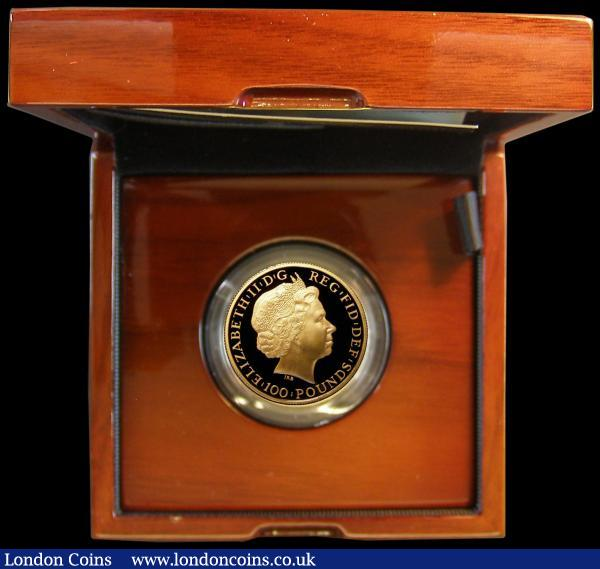 One Hundred Pounds 2015 - Year of the Sheep Gold Proof in the Royal Mint box of issue with certificates 31.21 grams of pure 999.9 gold and with an issue limit of just 888, cost £1,950 when issued : English Cased : Auction 162 : Lot 496