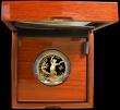 London Coins : A162 : Lot 497 : One Hundred Pounds 2016 - Year of the Monkey Gold Proof in the Royal Mint box of issue with certific...