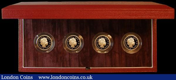 One Pound Pattern Set 2003 a Four-coin set in Gold depicting famous bridges Spink PPS2 FDC cased as issued with certificate : English Cased : Auction 162 : Lot 502