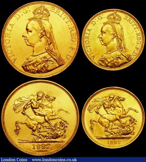 Queen Victoria Golden Jubilee Set 1887 a 4-coin set in gold