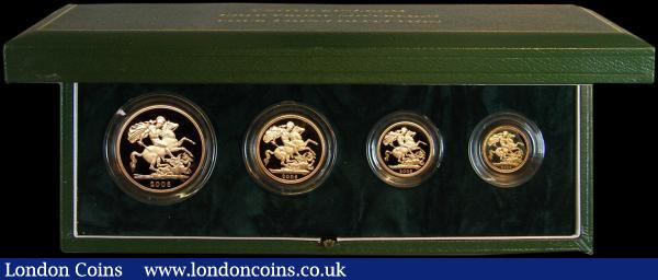 United Kingdom 2006 Gold Proof Four Coin Sovereign Collection, Gold Five Pounds to Half Sovereign, FDC in the Royal Mint's presentation box with certificate : English Cased : Auction 162 : Lot 692