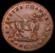 London Coins : A162 : Lot 839 : Farthing 18th Century Middlesex - Pidcock's undated, Obverse : Elephant, Reverse: Two-Headed Co...