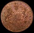 London Coins : A162 : Lot 869 : Halfpenny 18th Century Middlesex - Pidcock's undated, Obverse : Two-Headed Cow, Reverse: Royal ...