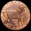 London Coins : A162 : Lot 870 : Halfpenny 18th Century Middlesex - Pidcock's undated, Obverse : Two-Headed Cow, Reverse: Toucan...