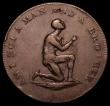 London Coins : A162 : Lot 874 : Halfpenny Middlesex  Slave Token DH1039A Kneeling Slave AM I NOT A MAN AND A BROTHER, edge PAYABLE A...