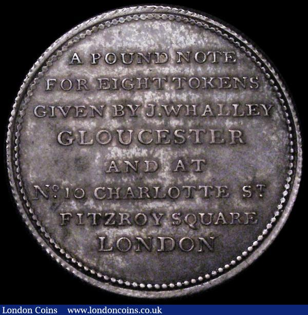 Halfcrown 19th Century Gloucestershire- Gloucester undated Davis 4, NEF with attractive old tone, the obverse with some thin scratches : Tokens : Auction 163 : Lot 13
