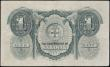 London Coins : A163 : Lot 1545 : Sarawak 1 Dollar dated 1st January 1935 series A/4 558636, portrait C. Vyner Brooke at right, (Pick2...