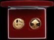 London Coins : A163 : Lot 1709 : Five Pound Crowns a 2-coin set 2005 Nelson S.L15 and 2005 Trafalgar S.L14 Gold Proofs FDC cased as i...