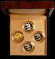 London Coins : A163 : Lot 1880 : The Queen Elizabeth II Sovereign Portrait Collection a 4-coin set comprising Sovereigns (4) 1957 Mar...