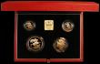 London Coins : A163 : Lot 1936 : United Kingdom 1995 Gold Proof Four Coin Sovereign Collection, Gold Five Pounds, Two Pounds Peace Do...