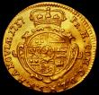 London Coins : A163 : Lot 2089 : German States - Hanau-Munzenberg Gold Ducat 1737 Wilhelm VIII as Count of Hanau, the reverse of a di...