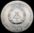 London Coins : A163 : Lot 2451 : Germany - Democratic Republic 20 Mark 1969 Goethe KM#25 UNC