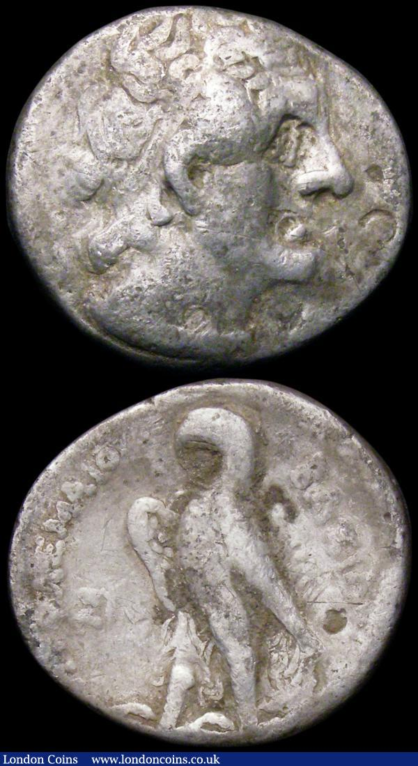 Tetradrachm Ptolemy I,  (305BC) Sidon Mint Obverse: head of Zeus right, Reverse: Eagle standing left. Near Fine, and accompanying Ptolemy bronze, Fine : Ancient Coins : Auction 163 : Lot 254