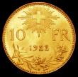 London Coins : A163 : Lot 2550 : Switzerland 10 Francs 1922B KM#40a.4 Lustrous UNC