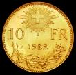 London Coins : A163 : Lot 2551 : Switzerland 10 Francs 1922B KM#40a.4 Lustrous UNC