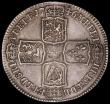 London Coins : A163 : Lot 2592 : Halfcrown 1746 LIMA ESC 606, Bull 1688 VF with some light haymarks