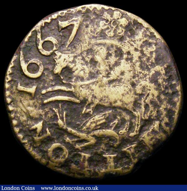 17th Century Halfpenny Lincolnshire 1667 George Beale W.269A VG : Tokens : Auction 163 : Lot 3