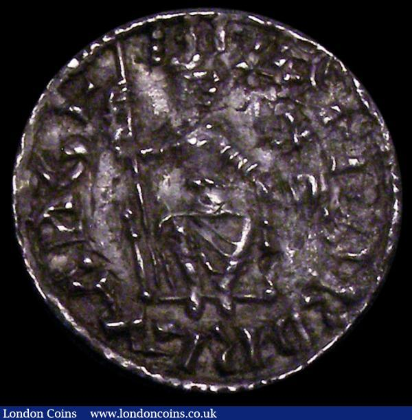 Penny Edward the Confessor, Sovereign/Eagles type S.1181, North 827, Wallingford Mint, moneyer Brunwine, VF the reverse a touch better, with a small stain on one of the eagles, Ex-Elmore-Jones : Hammered Coins : Auction 163 : Lot 317