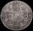 London Coins : A163 : Lot 389 : Crown 1720 20 over 18 ESC 113 GVF scarce thus minor adjustment lines reverse and tiny metal fault re...