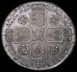 London Coins : A163 : Lot 392 : Crown 1741 Roses ESC 123 Good EF/AU lovely tone graded 75 by LCGS and in their holder