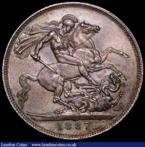 Crown 1887 ESC 296, Bull 2585 AU/UNC and nicely toned : English Coins : Auction 163 : Lot 404