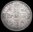 London Coins : A163 : Lot 469 : Florin 1849 ESC 802, Bull 2815 A/UNC, the obverse lustrous, the reverse with some toning, with minor...