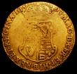 London Coins : A163 : Lot 496 : Guinea 1693 S.3426 VG with a weak area on the top left of the shield
