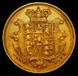 London Coins : A163 : Lot 537 : Half Sovereign 1834 Small size (17.9mm diameter) Marsh 410 VF/GF Very Rare
