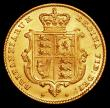 London Coins : A163 : Lot 540 : Half Sovereign 1842 Marsh 416 GEF lightly toning on the obverse