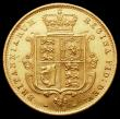 London Coins : A163 : Lot 543 : Half Sovereign 1872 Marsh 447, Die Number 158 NEF/About EF a very pleasing and even example, the fie...