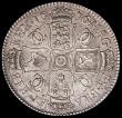 London Coins : A163 : Lot 561 : Halfcrown 1676 VICESIMO OCTAVO, Retrograde 1 in date ESC 478, Bull 471 About VF/VF with some light h...