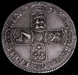 London Coins : A163 : Lot 566 : Halfcrown 1688 QVARTO ESC 502, S3409 EF reverse nEF with the 6 of the date weak