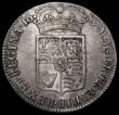 London Coins : A163 : Lot 569 : Halfcrown 1689 Second Shield, No frosting, No pearls, ESC 512, Bull 846 NVF with some light haymarki...