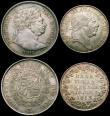London Coins : A163 : Lot 603 : Halfcrown 1817 Bull Head ESC 616, Bull 2090 A/UNC with some scuffs on the King's chin, and a co...