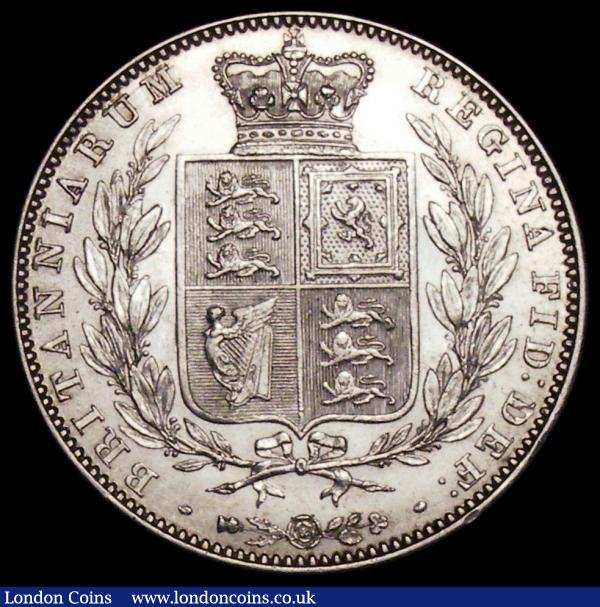 Halfcrown 1849 Large Date ESC 682, Bull 2730 EF/GEF the reverse with two small rim nicks : English Coins : Auction 163 : Lot 631