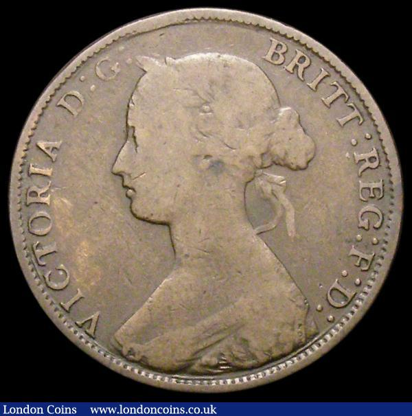 Halfpenny 1862 Die Letter A, Freeman 290A dies 7+G VG the reverse with some light scratches behind Britannia, Rare : English Coins : Auction 163 : Lot 712