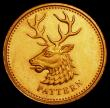 London Coins : A163 : Lot 746 : One Pound 2004 Gold Northern Ireland Pattern - Heraldic Beasts - Stag S.J20B (from the PPS4 set) Pla...