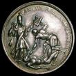 London Coins : A163 : Lot 77 : Murder of Sir Edmundbury Godfrey, 1678, 39mm diameter in silver by G. Bower, Eimer 257a Obverse:- bu...