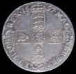 London Coins : A163 : Lot 800 : Shilling 1697C Third Bust ESC 1104, Bull 1175, Good VF and with an attractive grey tone, in an LCGS ...