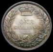London Coins : A163 : Lot 831 : Shilling 1872 ESC 1324, Bull 3042, Die Number 83, Choice UNC and colourfully toned