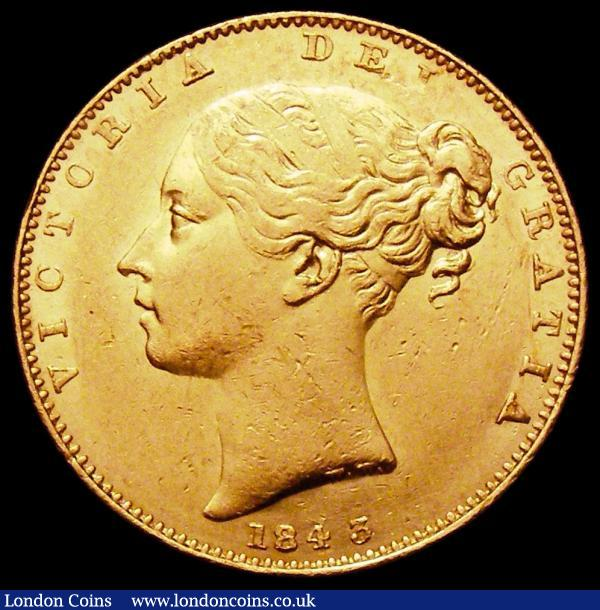 Sovereign 1843 Marsh 26 EF/GEF with some contact marks and a few small rim nicks : English Coins : Auction 163 : Lot 878