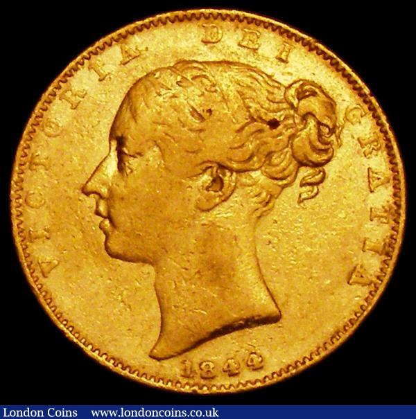 Sovereign 1844 Marsh 27 Near Fine/Fine with small spot on the Queen's hair : English Coins : Auction 163 : Lot 881