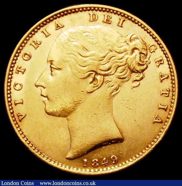 Sovereign 1849 Marsh 32 EF with touches of red tone : English Coins : Auction 163 : Lot 886