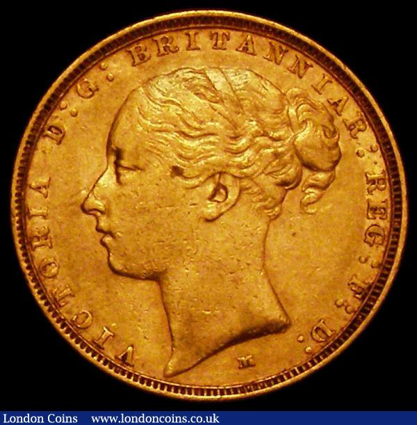 Sovereign 1885M George and the Dragon S.3854A, Marsh 107NVF/GF : English Coins : Auction 163 : Lot 950