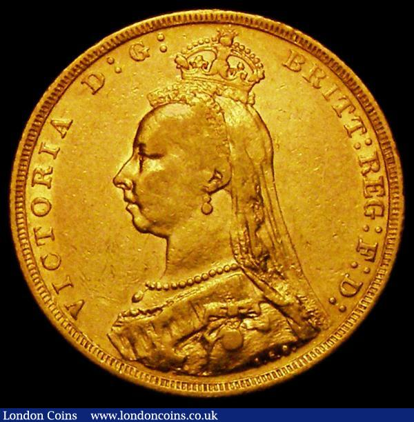 Sovereign 1889M G: of D:G: now closer to crown S.3867B, DISH M12, Fine/NVF : English Coins : Auction 163 : Lot 958